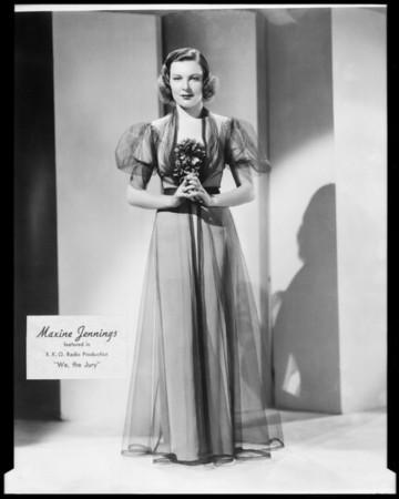 Movie fashions, Los Angeles, CA, 1936