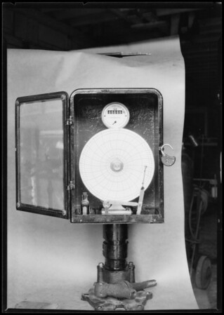Metering equipment, Southern California, 1926