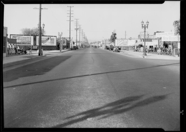 Intersection of West 37th Place and South Western Avenue, Los Angeles, CA, 1934