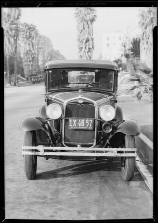 Ford Tudor sedan - Eagle Indemnity Company, Sharp vs. Pearson and Duffy, Southern California, 1933