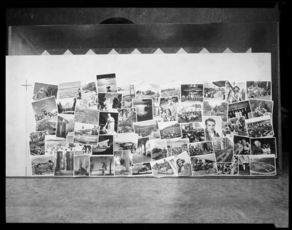 Wall murals, Southern California, 1938