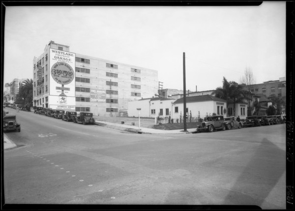 Site of new building, Wilshire Boulevard and South Westlake Avenue, Los Angeles, CA, 1934