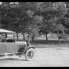 Police pistol range shooting, Southern California, 1925