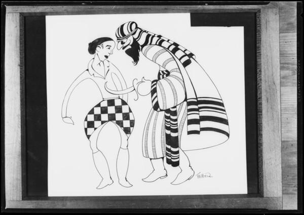 """""""Desert Song"""" artwork for Windsor Theater, Southern California, 1928"""