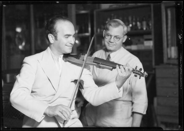 """Rubinoff"", California sunshine and small violin, Southern California, 1934"