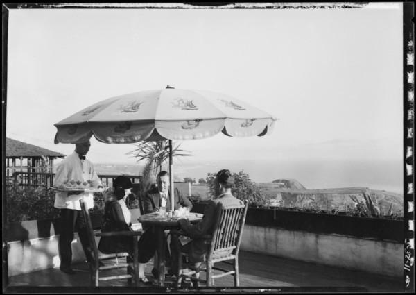 Cafe and scenic, Miramar Estates, Santa Monica, CA, 1927