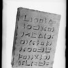 "Mission Playhouse clay tablets for ""Babylon"", Southern California, 1927"