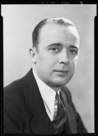 Portraits of #1 Mr. Newman, #2 Mr. Bud Sharron, #3 Dr. J.F. Williams, Southern California, 1934