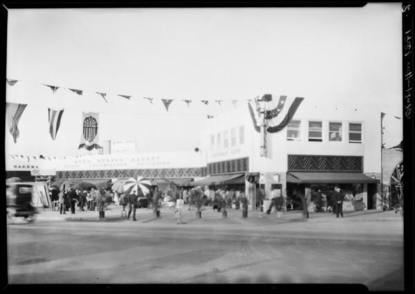 Opening of Leimert market, Los Angeles, CA, 1928