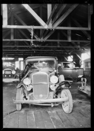 Case of Paul Hickman vs. J.K. Miyadi, Chevrolet and Buick, Southern California, 1934