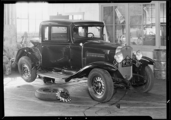Chevrolet coupe - owner, Mr. Pierce, Southern California, 1933