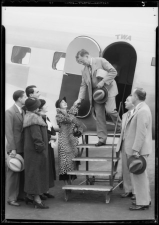 Enna Jettick shoe at Grand Central Airport, Glendale, CA, 1934