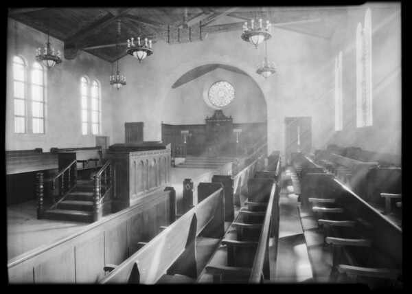 Interiors of church, Southern California, 1932
