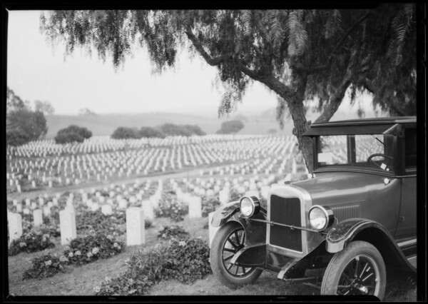Sawtelle cemetery - veterans, Southern California, 1926