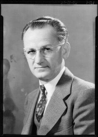 Portrait of H.A. Lewis, optometrist, Southern California, 1934
