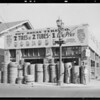 Exteriors of store at 16th Street & Vermont Avenue, Los Angeles, CA, 1933