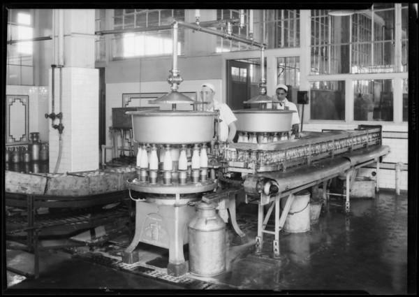 Interiors at Slauson Avenue Plant, Crescent Creamery Company, Los Angeles, CA, 1928