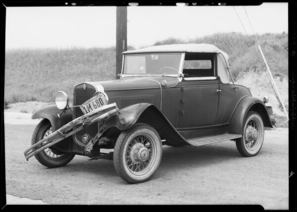 J.R. Neal vs. Florence Rider, Ford & Chevrolet, Southern California, 1934