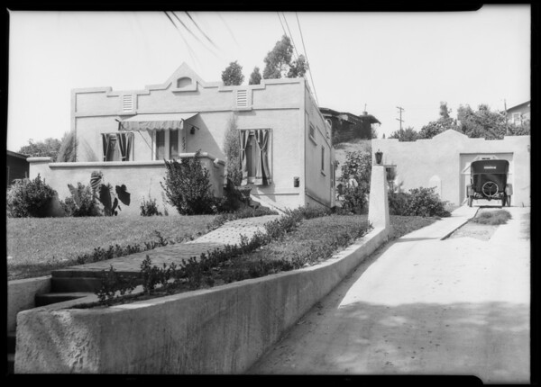 Small home & garage, 1137 Chadwick Dr., Los Angeles, CA, 1925