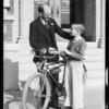 Bicycle winner, Southern California, 1934