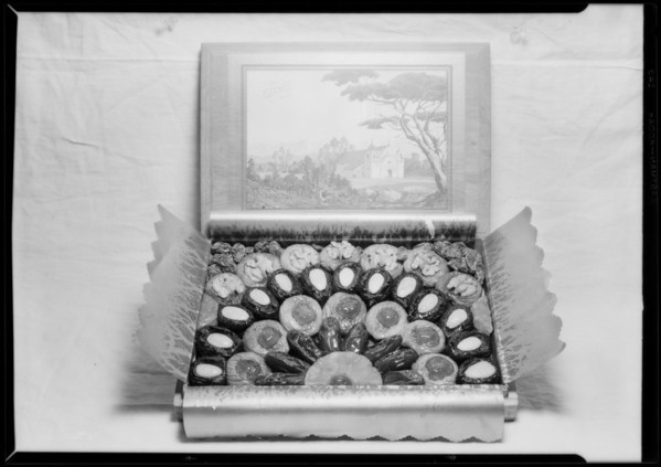 Candy boxes, Southern California, 1926