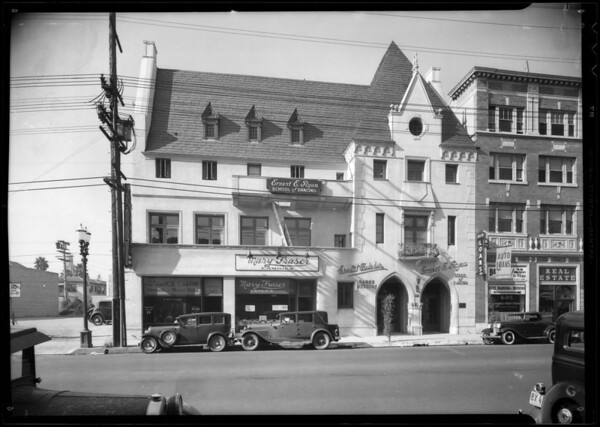 Exterior of building, 607 South Western Avenue, Los Angeles, CA, 1933