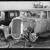 Oldsmobile sedan, Buick sedan, Calvin Cray, W.D. Forester, Southern California, 1934