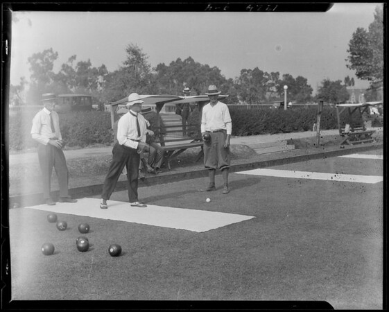 Exposition Park lawn bowling, Los Angeles, CA, 1924