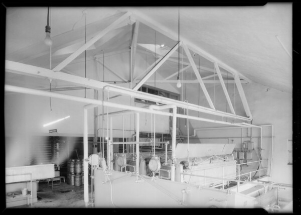 Pasteurizing rooms, Southern California, 1934