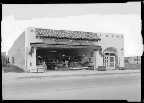 Security Market, 7517 South Western Avenue, Los Angeles, CA, 1928