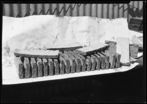 Fernholtz Machine Co., sawdust briquets, Southern California, 1926