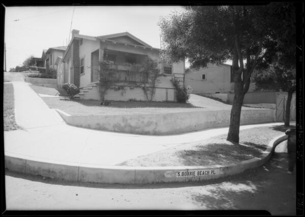 McKenzie residence, 600 South Bonnie Beach Place, Los Angeles, CA, 1934