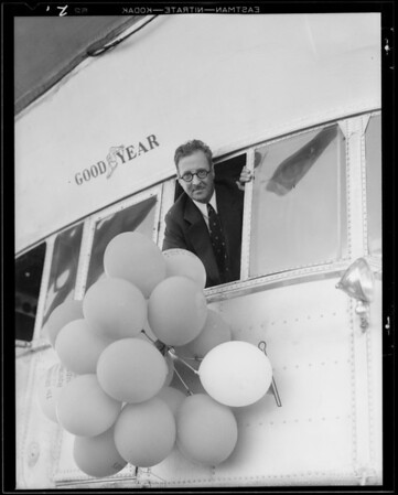 Balloons from Goodyear volunteer, Southern California, 1931