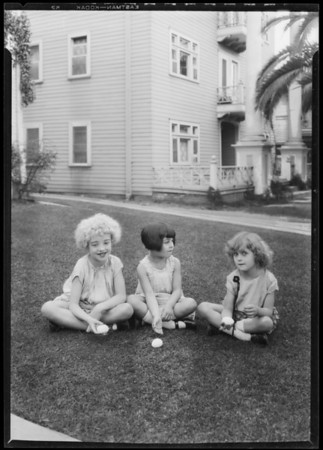 Churchill and Meglin Kiddie's, Southern California, 1927