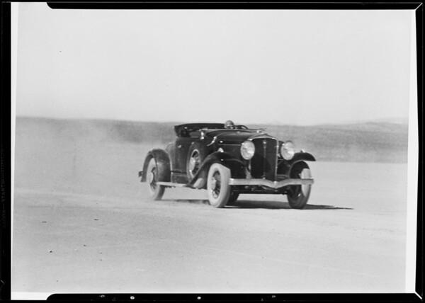 Copy of Studebaker for enlarging, Muroc Dry Lake, Southern California, 1932