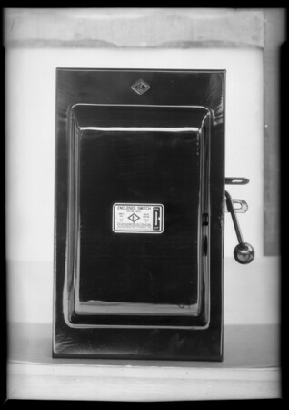 Switch box, Southern California, 1931