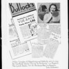 Copy of advertisement on mirror, Southern California, 1936
