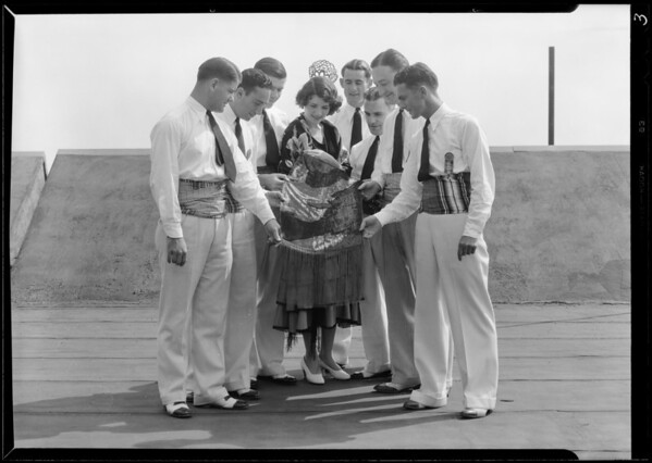 Groups taken on men's roof, Los Angeles, CA, 1931