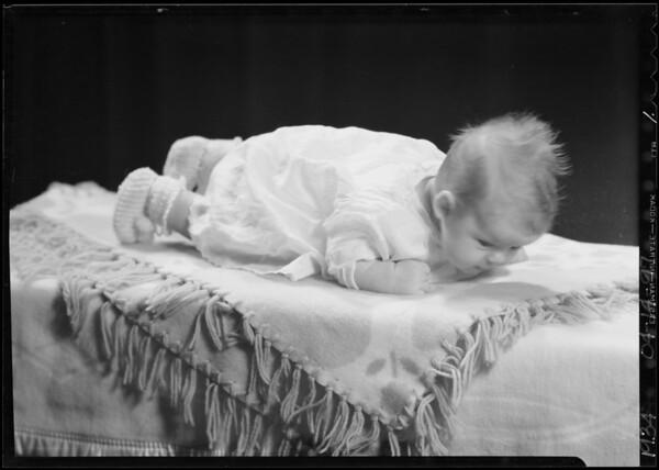 His baby, Mr. Ross Paulson, Southern California, 1934