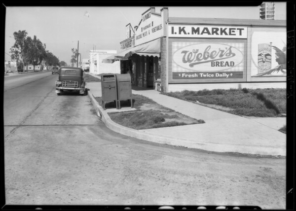 Intersection of Main Street and West 105th Street, J.E. Edgerton vs Continental Baking Co., Los Angeles, CA, 1934