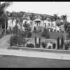 Large home with palm trees, Southern California, 1927