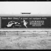 Revolving sign on Wilshire Boulevard, Los Angeles, CA, 1927