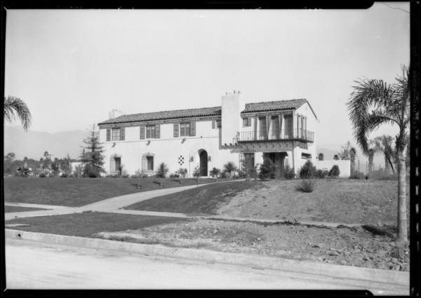 San Marino homes, San Marino, CA, 1926