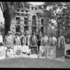 Poster winners at Otis Art Institute, 9045 Lincoln Boulevard, Los Angeles, CA, 1928