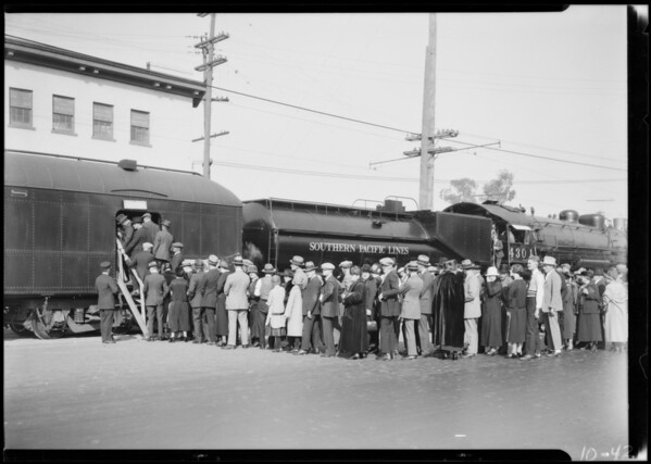 Trains at Exposition Park, Los Angeles, CA, 1924