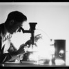"""Dick"" at the microscope, Southern California, 1934"