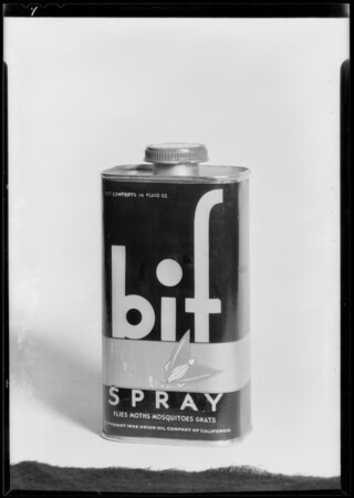 Can of Bif and paper fly, Southern California, 1932
