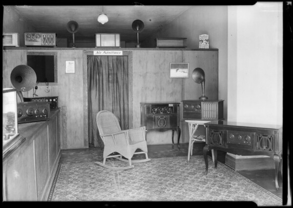 Youngquist & Palmer show room, Southern California, 1924