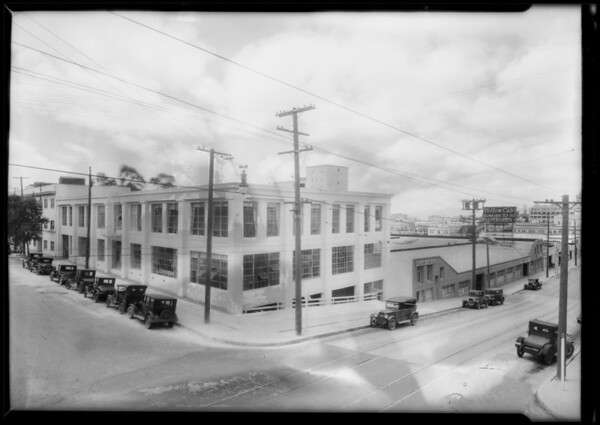 Building exterior, Yellow Cab, Southern California, 1928
