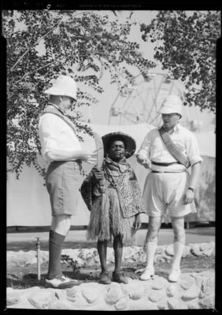 Yabutt and Cherrilly at Pomona Fair, Pomona, CA, 1934
